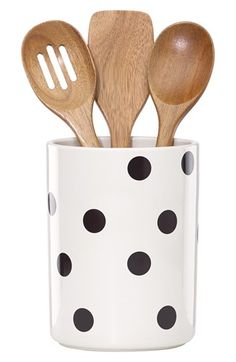 kate spade new york 'all in good taste' 'deco' utensil crock & wooden spoons (set of 4) available at #Nordstrom
