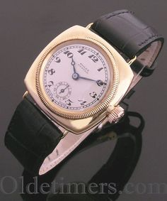 1920s 9ct gold cushion vintage Rolex Oyster watch (73502)