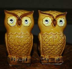 1000 images about retro salt pepper shakers on pinterest salt pepper shakers salts and - Owl salt and pepper grinders ...