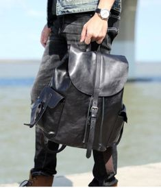 BARI FEKETE VALÓDI BŐR TÁSKA - LUXURY Leather Backpack, Backpacks, Luxury, Bags, Fashion, Handbags, Moda, Leather Backpacks, Fashion Styles