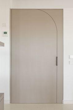 white pivot door hallway | #interior #design #ap