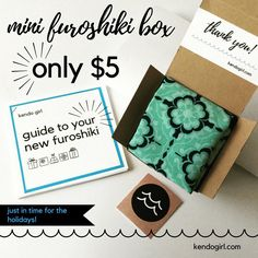 """1 Likes, 1 Comments - kendo girl (@kendogirlshop) on Instagram: """"Mini #furoshiki are the easiest & neatest gift ever - only $5 this month only! 🎁 kendogirl.com…"""""""