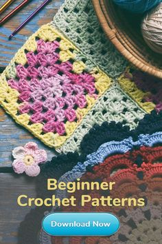 Always looking for a new crochet or knitting pattern? Download our free browser extension for hundreds of ideas right at your fingertips!  Crochet Quilt, Crochet Squares, Love Crochet, Bead Crochet, Learn To Crochet, Crochet Baby, Beginner Crochet, Crochet Basics, Granny Squares