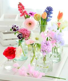 arranjo de flores para casamento colorido