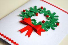 Ręcznie robiona kartka świąteczna handmade Bożonarodzeniowa