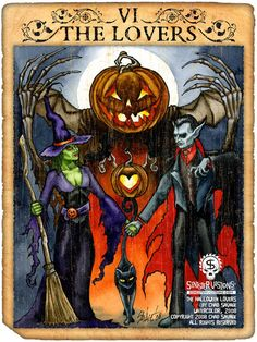 The Halloween Lovers Art Print by Chad Savage