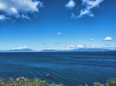 Chile - Puerto Varas  Vista do vulcão Calbuco e Osorno