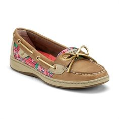 Sperry Top-Sider Angelfish Slip-On Boat Shoe #VonMaur #Sperry #Pattern #Printed #Pink