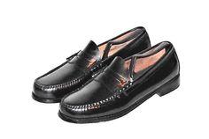 G.H. Bass Weejuns Black Leather Penny Loafer Slip On Men's Size 8.5 D #GHBassCo #PennyLoaferSlipOn
