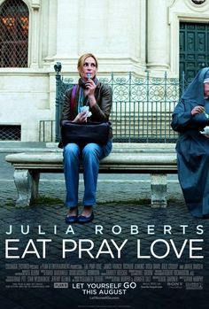 """Eat Pray Love (previously """"The Virtues of Life"""") is a 2010 drama film starring Julia Roberts as Elizabeth Gilbert, based on Gilbert's best-selling memoir of the same name. The film was co-written and directed by Ryan Murphy. Elizabeth Gilbert, Liz Gilbert, Eat Pray Love Movie, See Movie, Movie Tv, Movie Theater, James Franco, Love Trailer, Bon Film"""