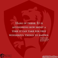 Hang in there. It is astonishing how short a time it can take for very wonderful things to happen. #MRMCanHelp #marketinghelp