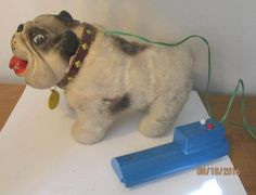 "Vintage 1962 TOMIYAMA Japan BULLDOG TOY ""Donny"" As Found - http://hobbies-toys.goshoppins.com/electronic-battery-wind-up-toys/vintage-1962-tomiyama-japan-bulldog-toy-donny-as-found/"