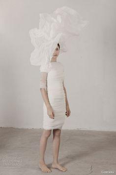 cortana 2015 bridal caracola short wedding dress with sleeves
