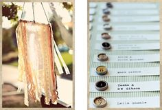 wedding placecards using vintage typewriters | visit junkshopbride com