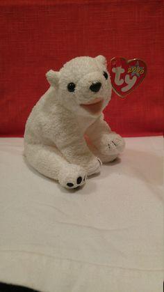 Aurora the Polar Bear White Ty Beanie Baby 2000 by TheLittlePenguinShop on Etsy