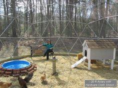 im garten kindersicher 16 ft Geodesic Dome Outdoor Aviary, Flight Cage, Animal Pen with Avian Netting