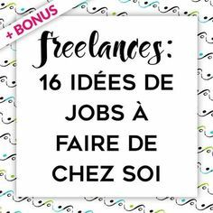 Work From Home: 20 Ideas to Become Independent Web Freelancer , Job A Domicile, How To Find Out, How To Make Money, Miracle Morning, Business Entrepreneur, Motivation, Marketing, Finance Tips, Business Planning