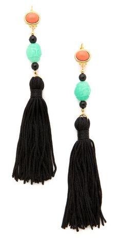 Asia Major | Gold Plate Kenneth Jay Lane Tassel Earrings | Shopbop, $54