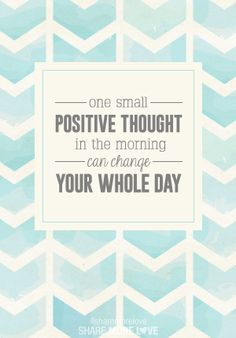 Positive Thinking!!
