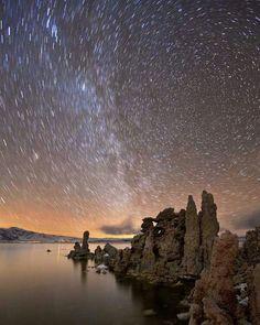 Bellos paisajes estrellado