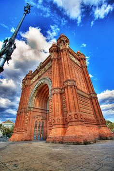 The Arc the Triomf in Passeig Lluis Companys in Barcelona, Spain