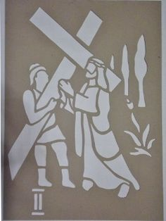 molde para alfombra julio cesar Easter Banner, Church Banners, Faux Stained Glass, Scroll Saw, Lent, Nativity, Diy And Crafts, Stencils, Diy Projects