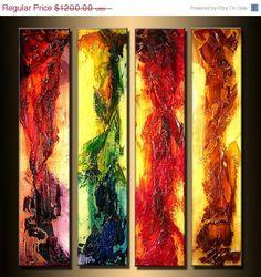Original Abstract Modern Contemporary Paintings & Art   Modern Art ORIGINAL Abstract Contemporary by newwaveartgallery, $960 ...