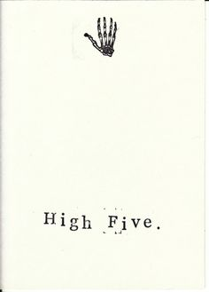 Funny Skeleton Anatomy Greeting Card High Five - RebelsMarket, $3.00 Say hello, congratulations, thank you or way to go with a little dry, anatomical humor!