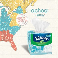 Two tips for #ColdandFlu season: Get your 3-week forecast at www.achoo.com, then stock up on Kleenex® Tissues with Lotion!