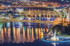 Pittsburgh bridges and the giant rubber duck at night HDR | Flickr ...