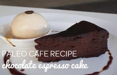 Recipe: Chocolate Espresso Cake by Paleo Cafe 340g        Cocoa Mass 1              Short Black Coffee (hot) 1              Vanilla Bean 1tbsp      Cinnamon 4tbsp      Cocoa ¾ cup      Honey 6 x           Eggs 1 cup      Ghee 1cup       Almond Meal 1tsp        Baking Powder In a mixer add cocoa mass and hot short black coffee …