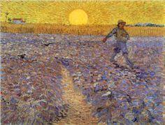 Seminatore al tramonto Vincent Van Gogh 1888