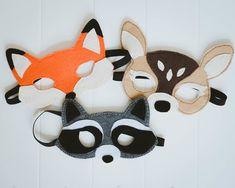 Woodland Creatures Felt Masks — David and Leanna