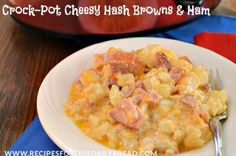 HASH BROWNS AND HAM SLOW COOKER CHEESY CASSEROLE