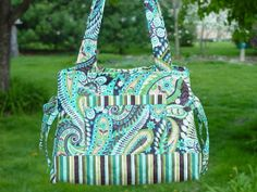 Quilted Purse Quilted Handbag Tote Bag Bow Tuck Style Custom Made For You by QuiltedCreatonsByMe