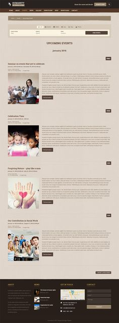 Humanity #nonprofit #WordPress theme's upcoming events page helps to show the special events of your organizations coming in future. #theme