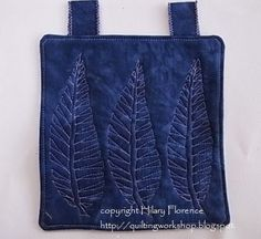 Leaf Triplet... Hilary Florence Quilting Workshop: The 101 Free Motion Quilted Cameos - so far!