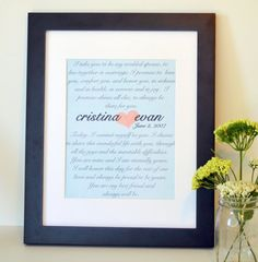 Wedding Vow print 8x10 Gift for husband Anniversary by laceyfields