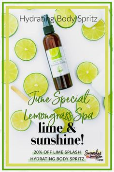 Lemongrass Spa uses all natural, fragrance free, ingredients to create this perfect summertime scent Lime Splash! Set to retire on July 1st, don't miss out on this moisturizing body spritz! Click to order now.