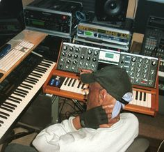 P-Funk keyboardist Bernie Worrell laying down some #Moog on an upcoming track by chopsnsoul