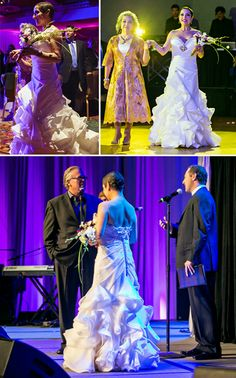 Margo Rey, celebrity sponsor for Brides Against Breast Cancer, & Jasmine Bridal unite in the fight for a cure!
