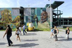 Hazul Luzah e Mr. Dheo arte urbana Porto graffiti