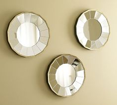 i am LOVING these mirrors...can i justify them???  Rhona Round Gilt Mirrors, Set of 3, #potterybarn