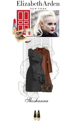 """""""Go From Fall to Festive With Elizabeth Arden and Shoshanna"""" by celida-loves-pink on Polyvore"""
