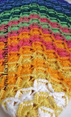 """Free pattern for a Chunky """"Speed"""" Afghan.."""