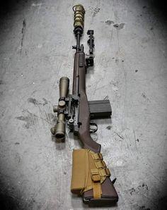 "vanilagorila: "" dirty-guns: "" learnosaurusrex: "" The Kel-Tec RFB (Rifle-Forward Ejection-Bullpup): a compact, balanced bullpup rifle that accepts FAL magazines. Weapons Guns, Guns And Ammo, Tactical Survival, Tactical Gear, Sniper Gear, Sniper Rifles, Zombie Apocalypse Kit, Military Guns, Firearms"