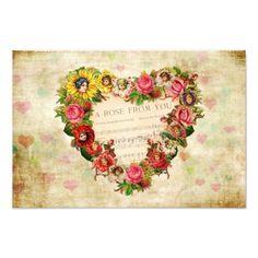 SOLD 2 Vintage Hearts and Flowers Art Photos by VintageArtBazaar. #vintage #posters #hearts http://www.zazzle.com/vintageartbazaar*