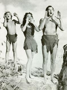 I used to love to watch Tarzan shows.  ~Johnny Sheffield, Maureen O'Sullivan, Johnny Weissmuller  Tarzan's New York Adventure (1942)
