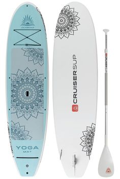 Cruiser SUP Yoga Mat Feather-Lite 10'6-11' with Full Length Yoga Deck Pad