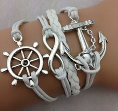 anchor rudder infinity silver bracelets [new-br01] - $5.99 : Fasion jewelry promotion store,Shop cheap fashion jewelry and cosplay wigs at www.favorwe.com